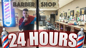 24 hour overnight in a barbershop salon insane locked in a