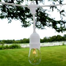 Led Outdoor Patio String Lights by Outdoor Patio String Lights 54 U0027 White Suspended