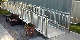 Wheelchair Ramp Handrails Commercial Ada Wheelchair Ramps