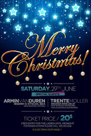creative christmas poster psd material welovesolo