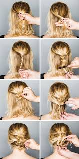 hair braiding styles step by step 40 quick and easy updos for medium hair