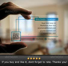 Business Card With Qr Code Translucent Qr Code Business Card By Bosstwinsart Graphicriver