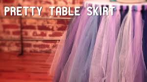 how to make tulle skirt no sew tulle tutu table skirt hgtv