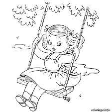 coloriage fille dessin à imprimer gratuit