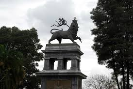 lion of judah statue traditional lion of judah monument churchill avenue addis ababa