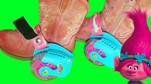 trolls light up shoes dreamworks trolls movie light up heel wheel skates led party lights