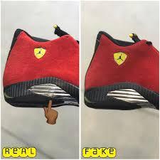 retro ferrari 14 fake vs real air jordan 14 ferrari fake black
