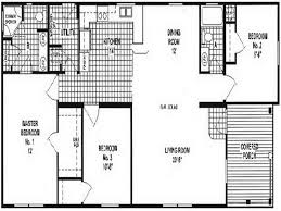 open house floor plans bedroom mobile home floor plans with open wide ranch