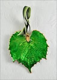 leaf ornaments grape leaf ornament