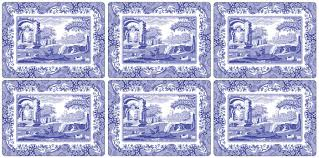 pimpernel blue italian placemats set of 6 spode uk