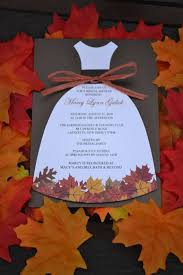 fall bridal shower ideas fall in bridal shower invitations marialonghi