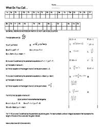 calculus parametric puzzle worksheet by katie brown u0027s math puzzle