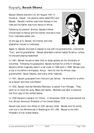 ks2 literacy biography and autobiography biography barack obama biography and autobiography famous