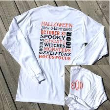 halloween long sleeve t shirts monogrammed halloween sayings long sleeve shirt pumpkin
