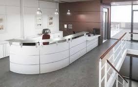 comptoir de bureau comptoir d accueil blanc