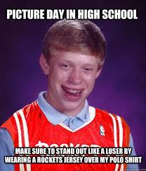 Make Bad Luck Brian Meme - caption this rockets bad luck brian meme clutchfans