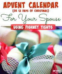 advent calendar 12 days of christmas for your spouse