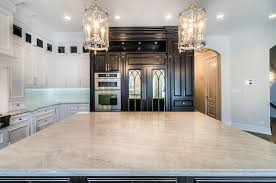 Kitchen Island Counters Taj Mahal Island Countertops With Cooktop Transitional Kitchen