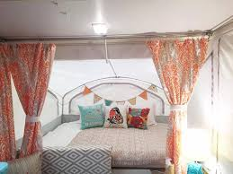 Pop Up Camper Curtains Coleman Redecorate A Pop Up Trailer To Glam Perfection