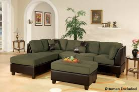 Green Leather Sectional Sofa Green Leather Sectional Sofa And Ottoman A Sofa Furniture