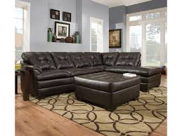 Sectional Couch With Ottoman by Simmons Upholstery 5122 Transitional Sectional Sofa With Tufted