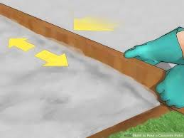 How To Cement A Patio How To Pour A Concrete Patio With Pictures Wikihow