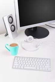 Minimalist Workspace Modern Home Minimalist Workspace Desktop Stock Photo Image 51687126