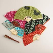 decorative fan batik fan world market