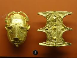 file gold ornaments mask and shield ashanti objects