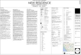 Floor Plan Abbreviations by 2308 Grand Canal Venice Silicon Bay Development