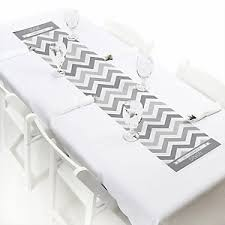 Grey Chevron Table Runner Chevron Gray Everyday Party Theme Bigdotofhappiness Com