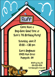 dog themed birthday party invitations eysachsephoto com