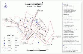surin tourist map map of thailand
