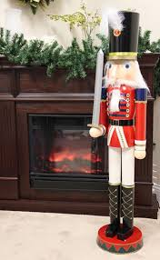 amazon com sterling 4 foot giant wooden soldier christmas