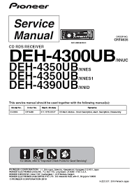 pioneer deh 4300ub wiring diagram pioneer wiring diagrams collection