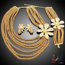 gold plated bead necklace images Greek goddess costume jewelry set gold plated jewelry set jpg