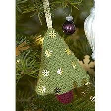 knit mini christmas tree tree decoration free christmas knitting