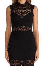 nightcap dixie lace cutout dress in black lyst