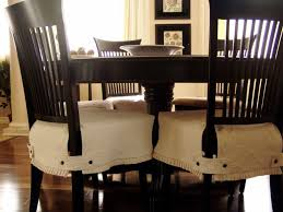 black dining room chairs with white seat cover