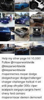 dodge charger for 10000 ou help my other page hit 10000 follow moparmemes mopar dodge