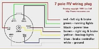 wiring diagram wiring diagram for 7 pin rv plug 4 way round