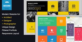 Resume Templates Html Flat Resume Virtual Business Card Html By Mustachethemes
