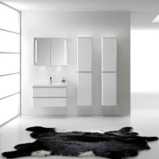 High Quality Bathroom Vanities by Aquila White Gloss 600mm Wall Hung Bathroom Cabinet Slimline