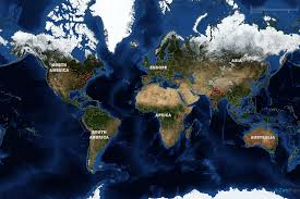 Blue World Map by World Map Customized Map Images In Any Size