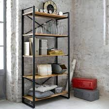 wood and metal bookcase bookcase wood metal bookcase