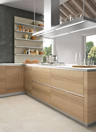 clean lines and the warmth of timber very cool kitchens