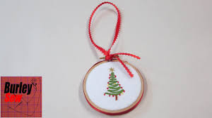 embroidered christmas last minute embroidery hoop christmas ornament and wishes