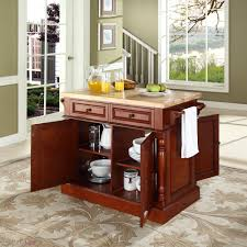 crosley butcher block kitchen island by oj commerce kf30006bk butcher block kitchen island