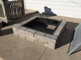 Square Fire Pit Insert by Unilock Concrete Square Fire Pit Sierra Color Www Bontool Com