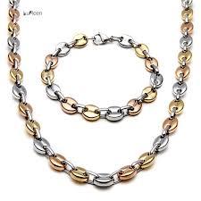 titanium link necklace images 2018 whole salelureen punk long men necklace chain titanium steel jpg